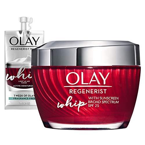 Olay Regenerist Whip Face Moisturizer with Sunscreen SPF 25, 1.7 oz + Whip Face Moisturizer Travel/Trial Size Gift Set