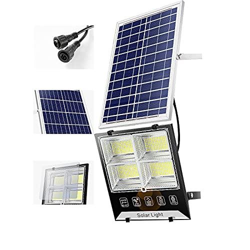 Proyector Luces De Inundación Solares Al Aire Libre / Interior, IP67 Farolas Solares Exterior Jardin Pie, Con Control Remoto Para,farola Solar Exterior Jardin , [Clase Ene(Size:150w,Color:Luz blanca,)