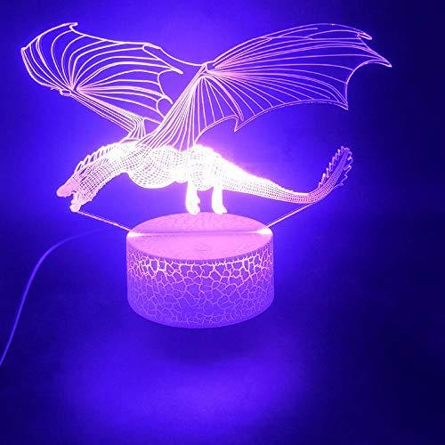 3D-Illusionslampe LED-Nachtlicht Game Of Thrones Dragon Touch Sensor Bester Preis Batteriebetriebener USB-Wecker