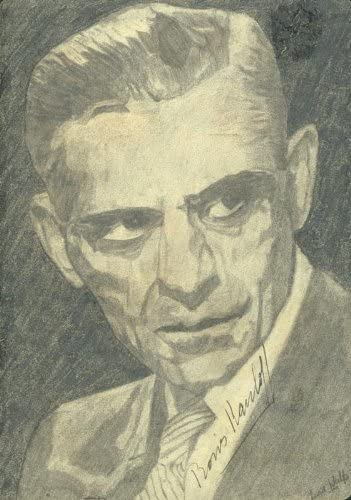 Boris Karloff - Sketch Signed Wolfe 40% Max 67% OFF OFF Cheap Sale Lisa by co-signed