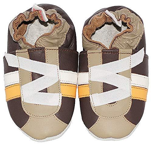 Babysteps Criss Cross Chaussures de bébé garçon, grande, Marron,