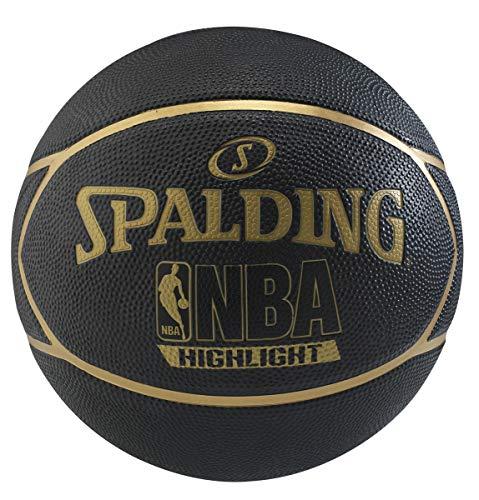 Spalding NBA Highlight Gold Basketball 83194Z; Womens,Childrens,Mens basketballs; 83194Z_7; Black; EU; (7 UK)