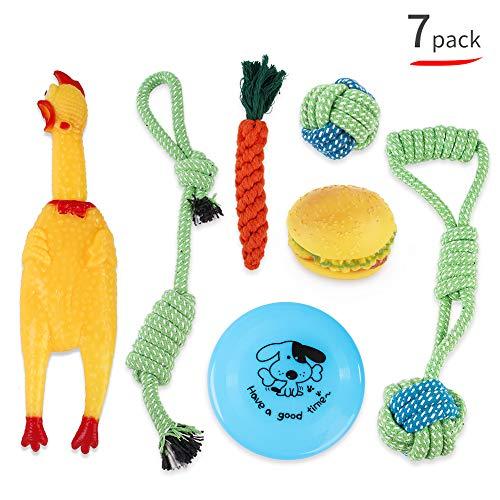 Mishuai Hond speelgoed Kauwspeelgoed Hond kauwspeelgoed Stress divergence Muzzles geëlimineerd Schone tandpasta's Duurzame duurzaamheid Geschikt voor kleine honden en middelgrote honden (7 sets)