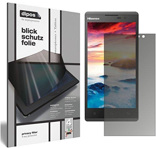 dipos I Blickschutzfolie matt kompatibel mit Hisense Sero 5 L691 Sichtschutz-Folie Bildschirm-Schutzfolie Privacy-Filter