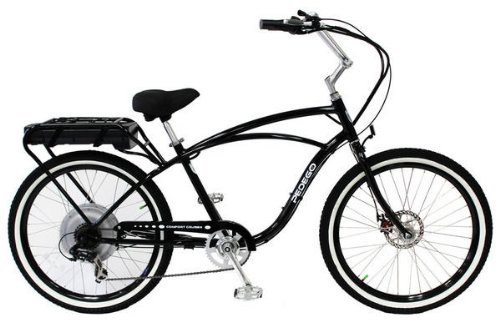 PEDEGO Electric Bicycle Classic Cruiser Black/Black (36V 15AH)