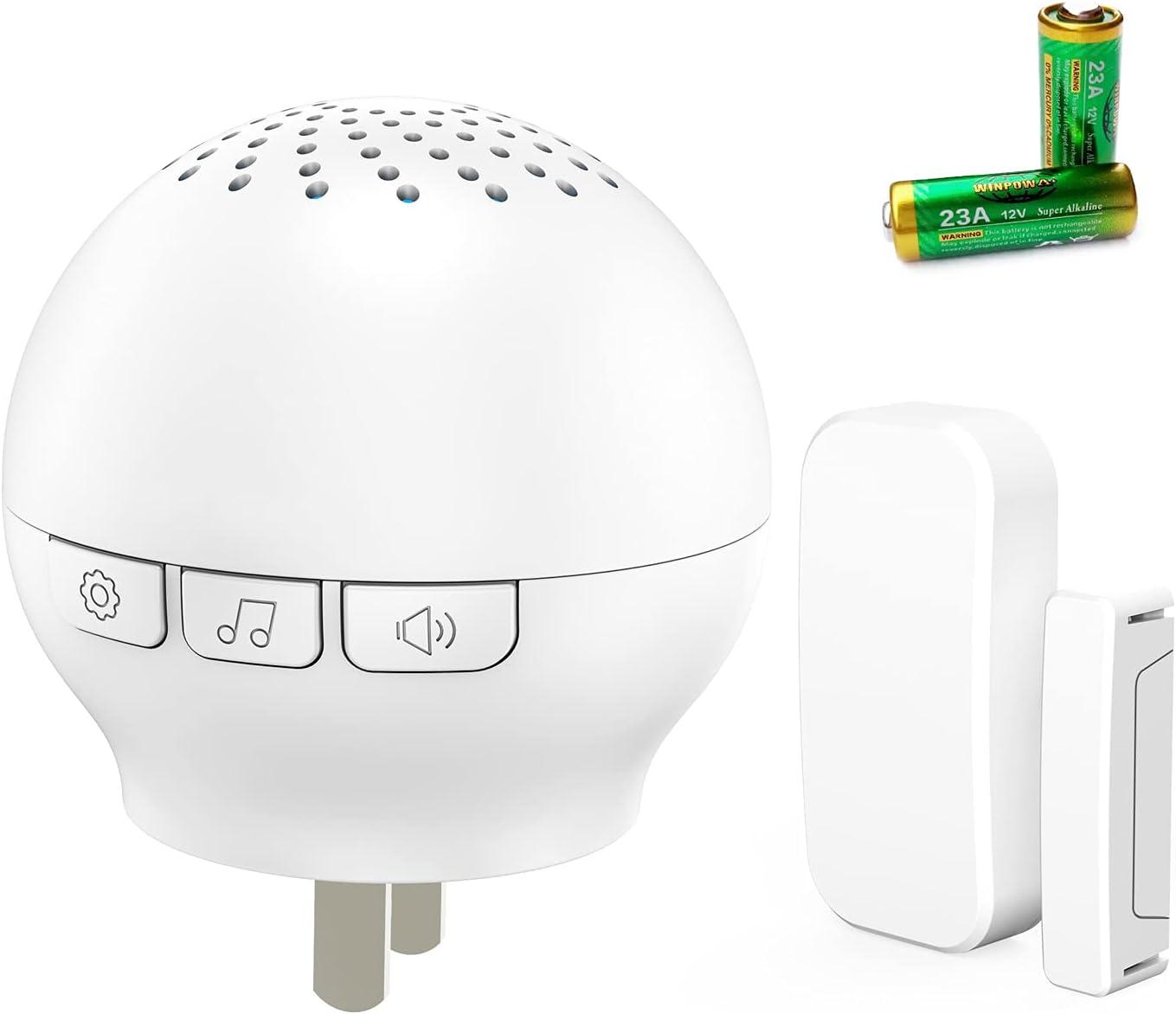 Door Chime, SunYo Wireless Door Sensor Chime with LED Indicator,