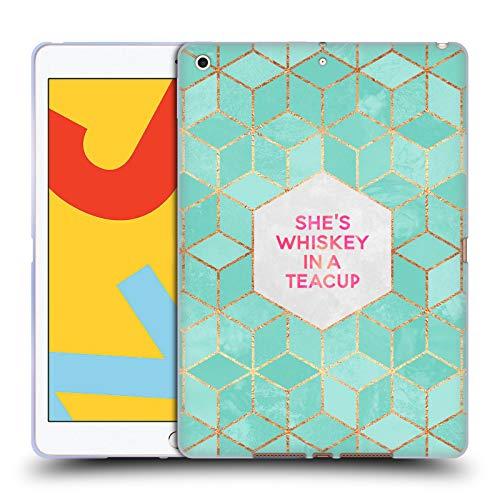 Officiële Elisabeth Fredriksson Ze is whisky in een theekopje Typografie Soft Gel Case Compatibel voor Apple iPad 10.2 (2019)