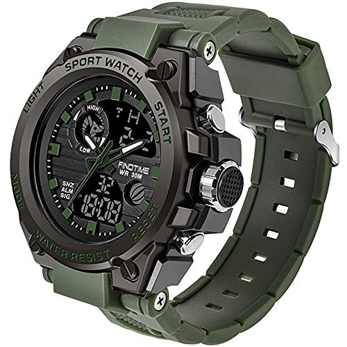 Herren Sportuhr Militär Große Armbanduhr Digital Analog LED Kalender Männer Jungen LED Wecker Elektronische Stoppuhr