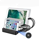 AIZBO USB Charging Station, 8-Port Multiple Device Charging Dock Desk Organizer Detachable Charge