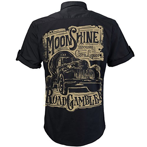 Worker Shirt, Hemd, Rock'n'Roll, Pick Up, Schnaps, Moonshine