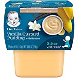 Gerber NatureSelect 2nd Foods, Vanilla Custard / Banana, 2 tubs, 4 Oz