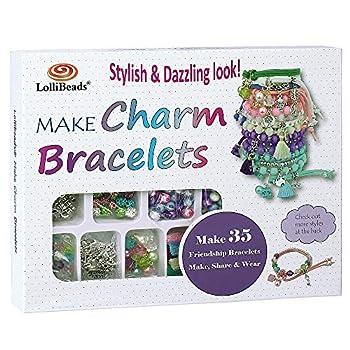 LolliBeads  TM  Make Charm Bracelets Kits 800 pcs Premium Bracelet Jewelry Making Kit Arts and Crafts for Girls Best Birthday/Christmas Gifts/Toys/DIY for Kids Friendship Bracelets Maker