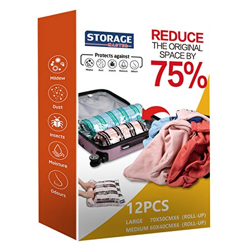 Storage Master 12 Compression Bags, Travel Space...