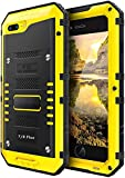 iPhone 8 Plus / 7 Plus Waterproof Case Heavy Duty with Built-in Screen Full Body Protective Shockproof Drop Proof Hybrid Hard Cover Military Outdoor Sport for Apple iPhone 8 Plus / 7 Plus (Yellow)
