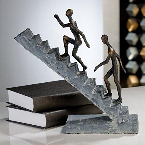 Casablanca 179126 Skulptur Staircase - Treppe - Polystone - bronzefinish - Höhe 28 cm - Breite 28 cm