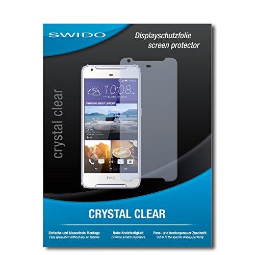 SWIDO Schutzfolie für HTC Desire 628 Dual SIM [2 Stück] Kristall-Klar, Hoher Härtegrad, Schutz vor Öl, Staub und Kratzer/Glasfolie, Displayschutz, Displayschutzfolie, Panzerglas-Folie