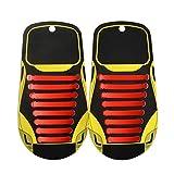 Cordones Elásticos Zapatillas No Tie Shoelaces - Impermeables Multicolor 16 Piezas Silicona Cordones de Zapatos para Adultos Plano Sneaker Boots Sin Corbata Cordones