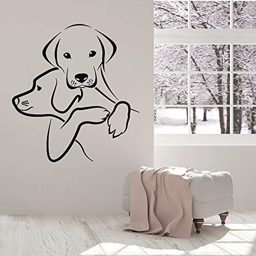 yaonuli Hund Wandtattoo Tierhandlung Schönheit Welpe Kinder Schlafzimmer Dekoration Vinyl Aufkleber 70X74cm