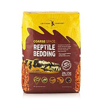 Critters Comfort Coconut Reptile Bedding Organic Substrate - Coarse 21 Quarts