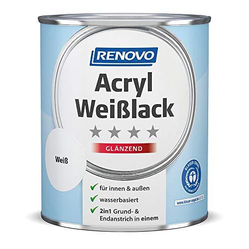 Acryl Weisslack 2in1 glänzend 750 ml Dose