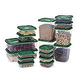 Z.L.FFLZ Caja de almacenaje 17pc / Set de Cocina for Guardar Objetos Caja de plástico latas Selladas Granos Frijoles de Almacenamiento contienen Cajas de almacenaje frigorífico Inicio