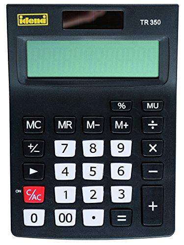 Idena 505283 - Tischrechner TR 350, 12-stelliges Display, farbig sortiert