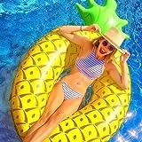 ANGAZURE Anillo De NatacióN Inflable Piña, Anillo de Flotador de Piscina Inflable, Juguetes de Verano para Niños y Adultos, Piscina para Fiestas en la Playa
