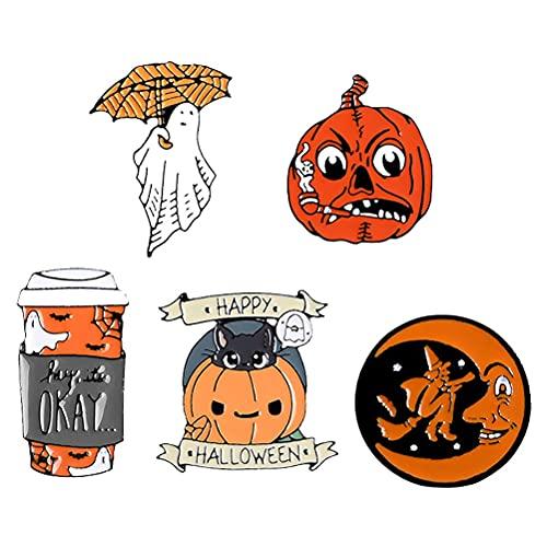 Chyang 5pcs Broches de Dibujos Animados creativos Elementos de Halloween Broches Halloween