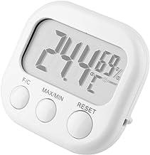 01 Medidor de Humedad de Temperatura Multifuncional Digital, termómetro Colgante, Uso en almacén, Uso en Exteriores para Oficina en casa