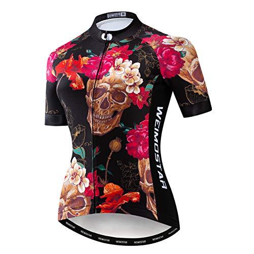 JPOJPO Womens Cycling Jersey Mountain Bike Jersey Women Shirt Tops S-2XL Four Fabric Made