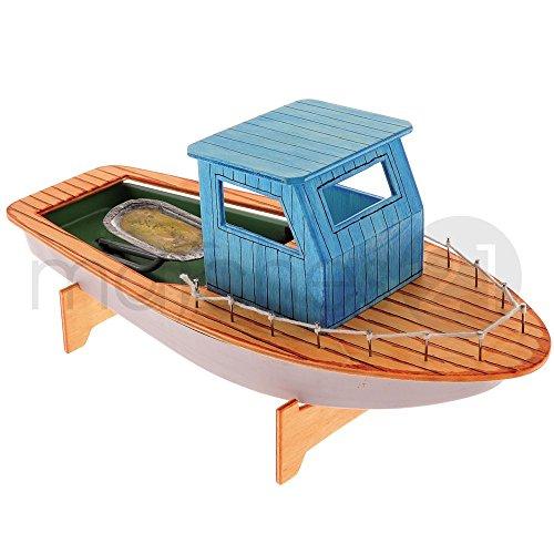 matches21 Fischerboot mit Knatterantrieb Bausatz f. Kinder Werkset Bastelset ab 12 Jahren