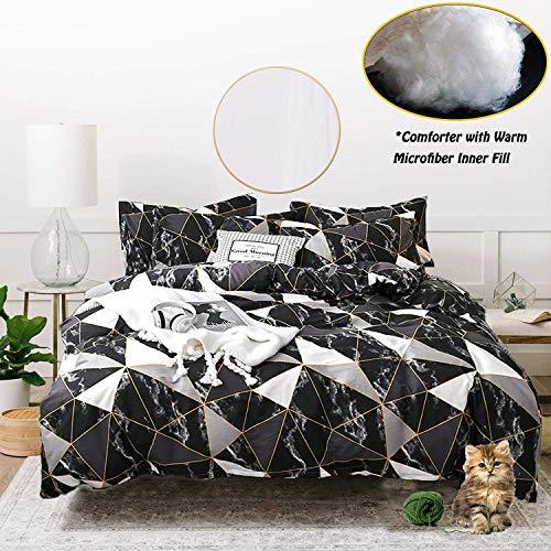 20 best full size comforter set for men black for 2021
