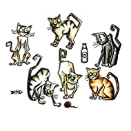 Sizzix 661209 Framelits Dies by Tim Holtz Crazy Cats,Grey