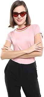 LOB Playera Manga Corta Rosa Playera para Mujer