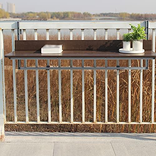 Zhaomi Mesa Plegable de Pared,Soporte de Metal Escritorio Colgante,Mesa Colgante Simple,Mesa de Comedor de Oficina,Se Puede Utilizar para Barandillas de Balcón Al Aire Libre (60x37cm/24x14.6in)