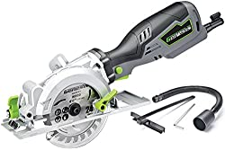 Genesis GCS545C Control Grip Compact Circular Saw with Vacuum Adapter, Blade Wrench, and 24T Carbide Tipped Blade