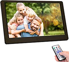 Digital Photo Frame, 10 inch Digital Picture Frame HD 1920x1080 16: 10 Full IPS Display Photo/Music/Video/Calendar, Auto On/Off Timer, Background Music Support 32GB USB Drives/SD Card,Remote Control