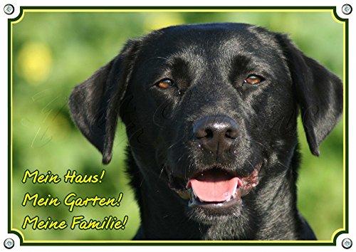 Hundeschild Labrador Retriever - Alu Schild mit Fotodruck - stabil - wetterfest, 1. DIN A5
