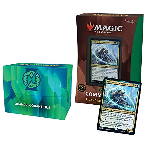 Magic The Gathering- Deck Commander Strixhaven-Quandrix (Azul-Verde) (Wizards of The Coast C86371010)