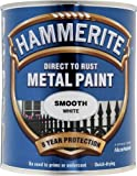Hammerite Direct to Rust Metal Paint - Smooth White Finish 750ML