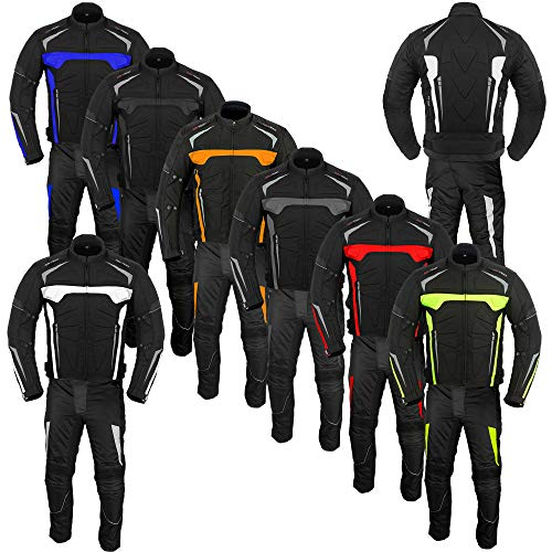 AZ reforzada Conjunto de 2 piezas de ropa para moto impermeable disponible en distintas tallas
