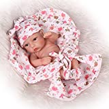 Reborn Baby Doll Hard Silicone 11inch 28cm Small Quilt Girl by NPK