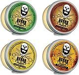 Bálsamo de Barba Collection 4 Superventas Latas X 30ml - Natural Orgánico Ingredientes en Cedro, Whisky On The Rocks, Eucalipto, Hierba de Limón