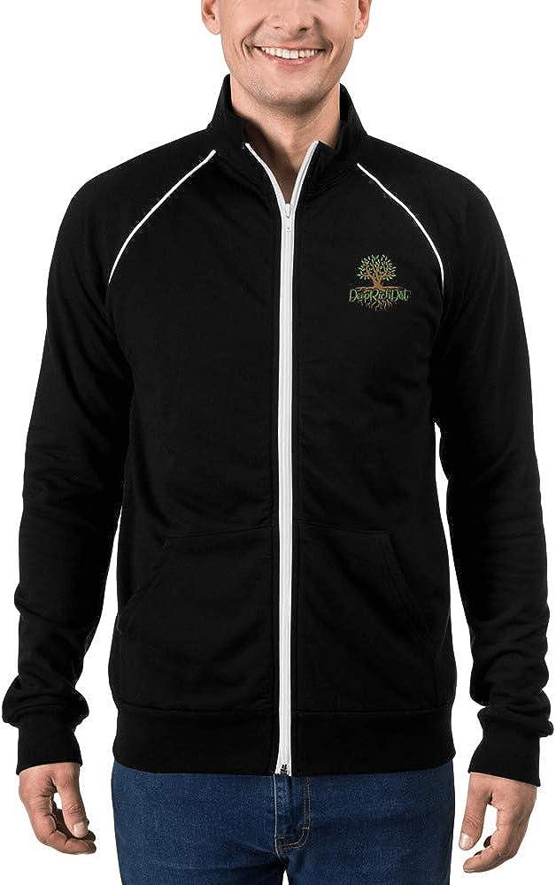Men's Piped Fleece Jacket - DeepRichDirt Olive Tree Logo