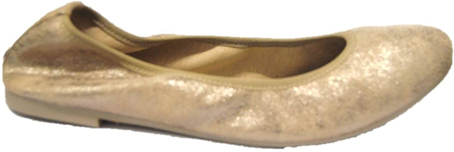 MERCANTE DI FIORI Women's Ballet Flats shoes in Beige Suede Leather Made in