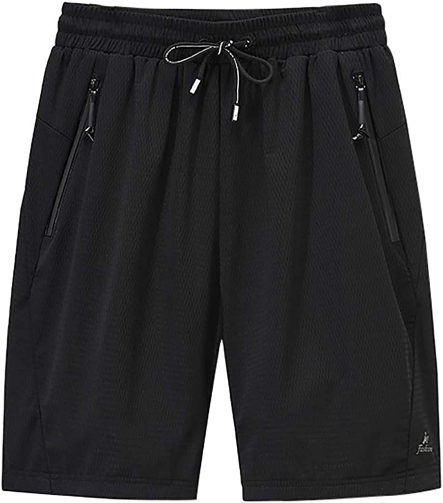 MOOKO Big and Tall Athletic Shorts for Mens Quick Dry Summer Drawstring Casual Short Sports Workout Running Shorts(M-5XL)