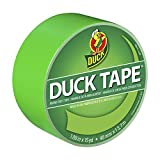 Duck Brand 1265018 Color Duct Tape, Neon Lime Green, 1.88 Inches x 15 Yards, Single Roll