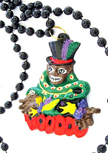 Voodoo Doctor Mardi Gras Bead Necklace Doll Money New Orleans Parade Beads
