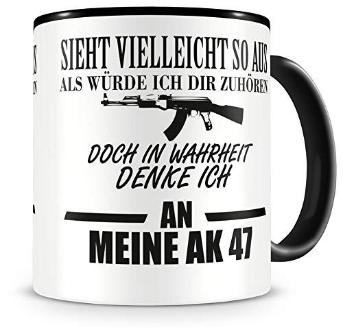 Samunshi® Ich denke an meine AK 47 Tasse Kaffeetasse Teetasse Kaffeepott Kaffeebecher Becher