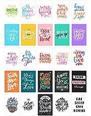 Edition Seidel Set de 25 tarjetas postales vida & Momente con frases – Tarjetas con texto – Regalo – Idea de decoración, amor, amistad, vida, motivación, tarjetas de cumpleaños imágenes Inglés